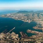 Oroszország legnagyobb kikötője, a Novorossiysk-i kikötő