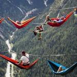 Nemzetközi highline-találkozó a Dolomitokban