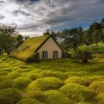 Izland 130 éves gyeptetős temploma