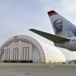 Felfújható hangárt adtak át a Liszt Ferenc Repülőtéren