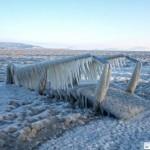 Elképesztő képek a jégbe fagyott Balatonról