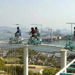 """Lábbal hajtott """"hullámvasúton"""" szórakoznak Japánban"""