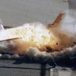 Archív felvétel a NASA által szándékosan felrobbantott utasszállítóról