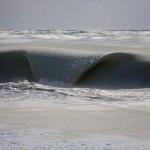Jégkásává fagyott az óceán a szokatlan hidegben