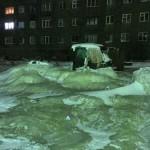 Jégbe fagyott egy szibériai kisváros,  Dugyinka