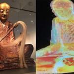 900 éve mumifikálódott szerzetest rejt a Budapesten kiállított szobor