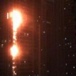 Tűz ütött ki a világ egyik legmagasabb felhőkarcolójában Dubaiban