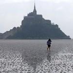 """Az """"évszázad árapálya"""" a Mont-Saint-Michel-öbölben"""