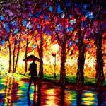 Egy súlyosan látássérült festő csodálatos alkotásai