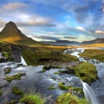A festői Kirkjufell hegy Izlandon
