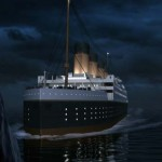 CGI- The Titanic moments before impact with an iceberg. (Photo credit: Mallinson Sadler Productions/ 422 South)