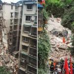 Photo: Összedőlt egy kilencemeletes lakóépület Kínában