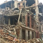 KATHMANDU - Destroyed homes after the second major earthquake on May 12, 2015.(photo credit:  Sky Vision/Patrick Greaves)