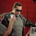 Terminátorként ijesztgette a látogatókat Schwarzenegger