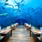 Különleges vízalatti étterem a Maldív-szigeteken