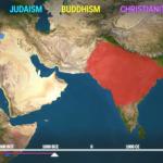 Videón az öt világvallás terjedése