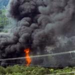 Kisiklott egy mérgező és gyúlékony gázt szállító tehervonat Amerikában
