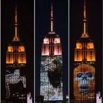 Veszélyeztetett állatok képeit vetítették az Empire State Buildingre – Cecil képmása is megjelent