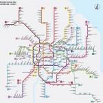 A sanghaji metróhálózat fejlődése