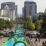 Photo: 300 méteres csúszdával szórakoztatják a városlakókat