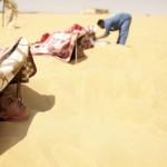 Forró homokfürdő az egyiptomi Szíva-oázisban