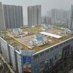 Photo: Bevásárlóközpontok tetején építettek kertes házakat Kínában