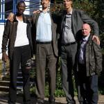 A világ három legmagasabb embere kapott speciális cipőt egy német cipésztől