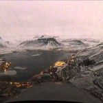 Landolás Izland festői repülőterén