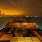Time lapse videó a világ egyik legnagyobb konténerszállító hajójának útjáról