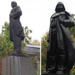 Darth Vaderré változott át egy Lenin-szobor Ukrajnában
