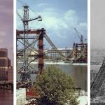 Világhírű épületek és látványosságok az építésük közben
