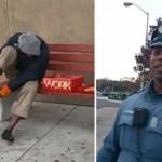 Egy rendőr vett cipőt a mezítláb buszozó hajléktalannak