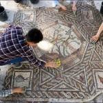 1700 éves mozaikpadlót fedeztek fel Izraelben