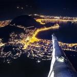 Így fest Rio de Janeiro éjszaka, a Megváltó Krisztus szobor válláról