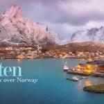 Gyönyörű légifelvétel a norvég Lofoten-szigetcsoportról