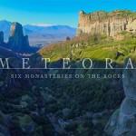 Lenyűgöző légifelvételen a görögországi Meteorák