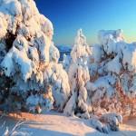 Gyönyörű felvételen Finnország hóval borított tája