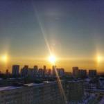 Egyszerre három Nap ragyogott Szentpétervár egén