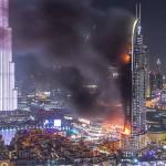 Timelapse videó készült a szilveszterkor lángoló dubai felhőkarcolóról