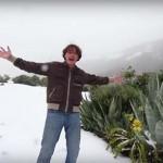 Csodájára járnak a turisták a Kanári-szigeteken hullott hónak