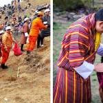 108 ezer fa elültetésével köszöntötték a kis trónörököst Bhutánban