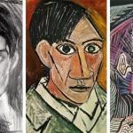 Picasso önarcképei 15 éves korától 90 éves koráig