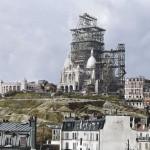 Színes fotók ikonikus látványosságok építkezéseiről