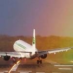 Látványos landolás – szivárvány és erős széllökések fogadták a repülőgépet
