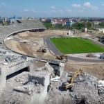Drónfelvételen a Puskás Ferenc Stadion bontása