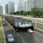Autók felett haladó, futurisztikus járművek közlekedhetnek a kínai nagyvársokban