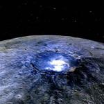Kiderült, hogy mik alkotják a Ceres törpebolygó fénylő foltjait