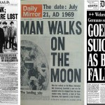 Régi újság címlapok történelmi eseményekről