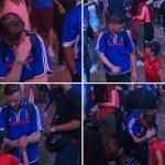 Így vigasztalta a portugál kisfiú a szomorú francia szurkolót az Eb-döntő után