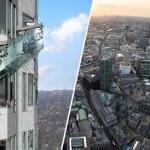 Üvegcsúszdát építettek egy 300 méteres Los Angeles-i felhőkarcoló tetején